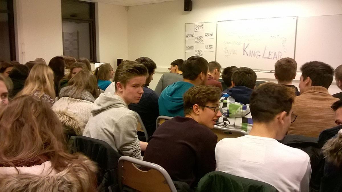 Le public en salle A 103